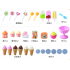 39pcs Kids Pretend Play Toy Set  Mini Simulated Candy Wheelbarrow Ice Cream Store  Play House Toys