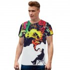 3D Abstract Artwork Graffiti Printing Women Men Casual Short Sleeve T-Shirt