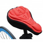 3D Breathable Bicycle Seat Cover Embossed High elastic Cushion Perfect Bike Accessory red