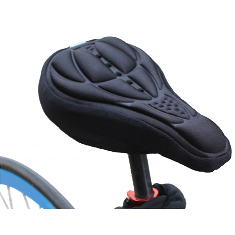 3D Breathable Bicycle Seat Cover Embossed High-elastic Cushion Perfect Bike Accessory black