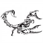 3D Car Scorpion Stickers Stylized Vinyl Car Stickers Decoration Accessories black