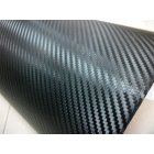 3D Carbon Fiber Vinyl Film Wrap Black Color