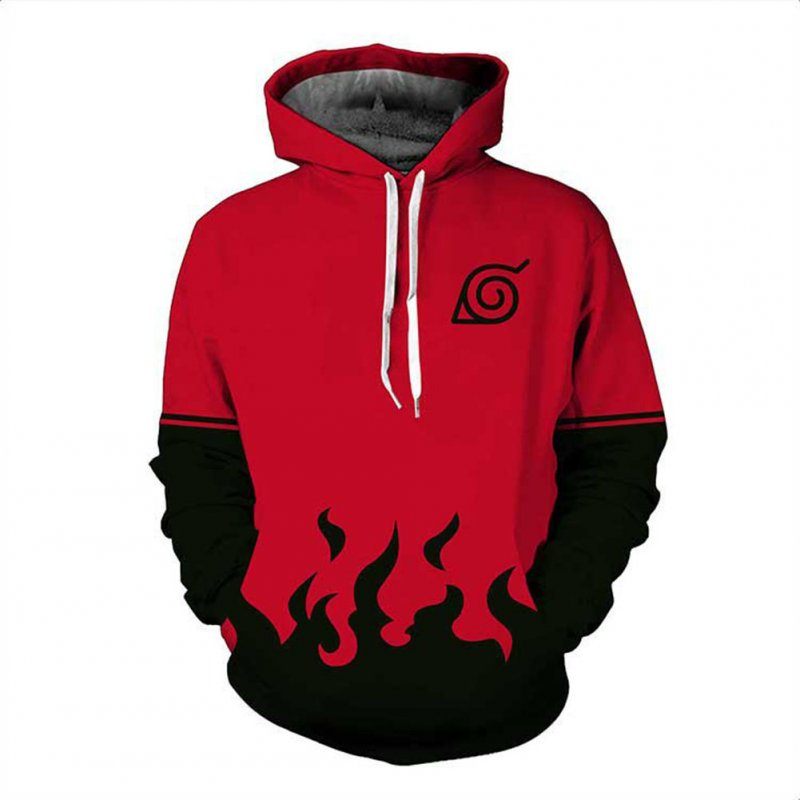 3D Digital Fashion Printing Thin Model Male Hoodie Seven Generations Naruto Sweatshirt_XL