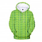 3D Digital Pattern Printed Top Casual Hoodie Leisure Loose Pullover for Man A M