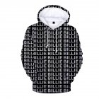 3D Digital Pattern Printed Top Casual Hoodie Leisure Loose Pullover for Man B_M