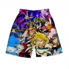 3D Digital Pattern Printed Shorts Elastic Waist Short Pants Leisure Trousers for Man H style_XL