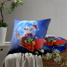 3D Digital Printing Pillow Cover 18Inchx18Inch Christmas Decorative Pillow Case for Sofa Bed Car 45*45CM