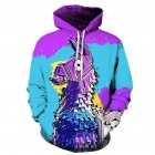 3D Digital Purple Donkey Printing Hooded Sweatshirts Purple donkey_XXL