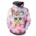 3D Digital Single Horn Horse Printing Couples Hooded Sweatshirts as shown_XL