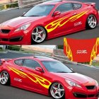 3D Flame Totem Decals Car Stickers