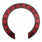 3D Flower Pattern Guitar Circle Sound Hole For Classical Guitar Decal Accessories Red + black