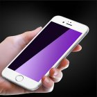 3D Full Coverage Anti Purple ray Tempered Glass Screen Protector whiteNTRF