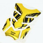3D Motorcycle Fuel Decal Pad Protector Cover Sticker Decoration Decals yellow