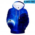 3D Mountain in Night Digital Printing Hooded Sweatshirts for Men Women Halloween Wear N 03872 YH03 4 styles M