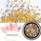 3D Nail Art Decorations Star Moon Glitter Manicure Tips Set Nail DIY Tool