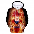 3D Pattern Printed Hoodie Drawstring Leisure Sweater Top Pullover for Man and Woman Section 13 L