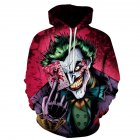 3D Poker Clown Printing Hooded Sweatshirt