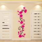 3D Rose Flower Rattan Pattern Wall Sticker for Hallway Living Room Corridor Decor