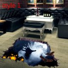 3D Scary Halloween Wall Sticker Floor Paster for Halloween Wall Floor Surface Decoration AFH1101