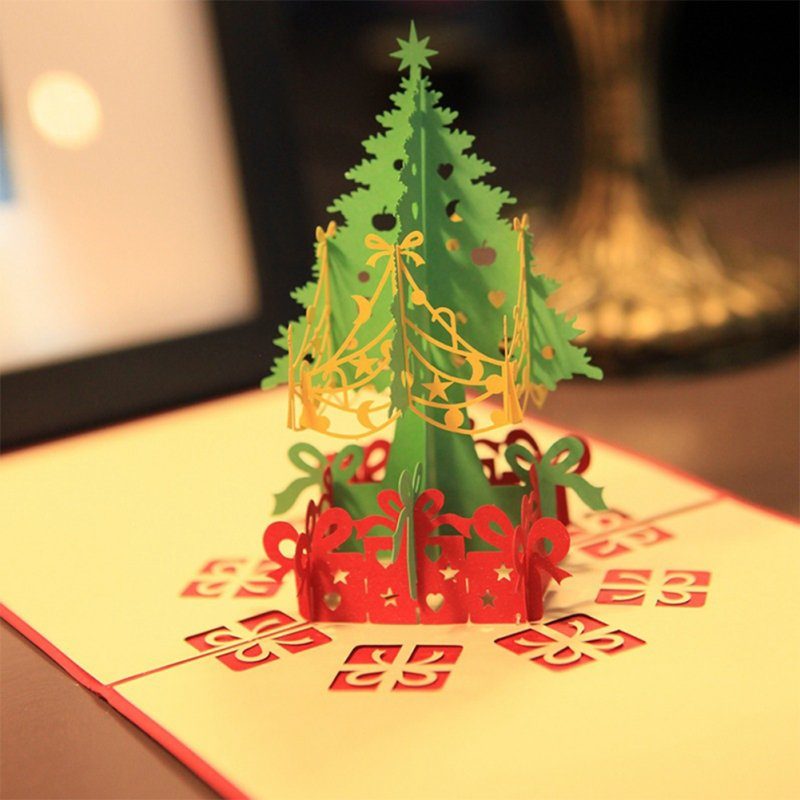 3D Stereoscopic Christmas Tree Greeting Card