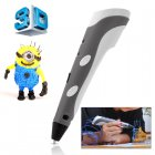 3D Stereoscopic Printing Pen for 3D Drawing  Arts and Crafts Printing