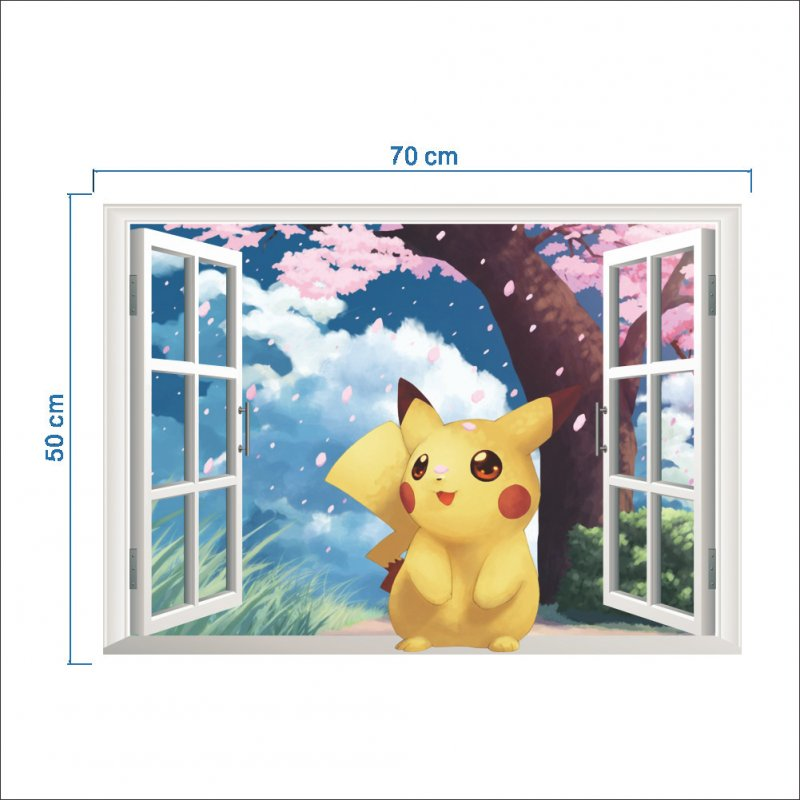 3D Wall Sticker for Kids Rooms Home Decor Cartoon Diy Posters Removable Decal 50 * 70CM
