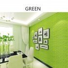 3D Waterproof Self adhesive Wall Sticker Decal for Restaurant Bedroom Living Room Bathroom green