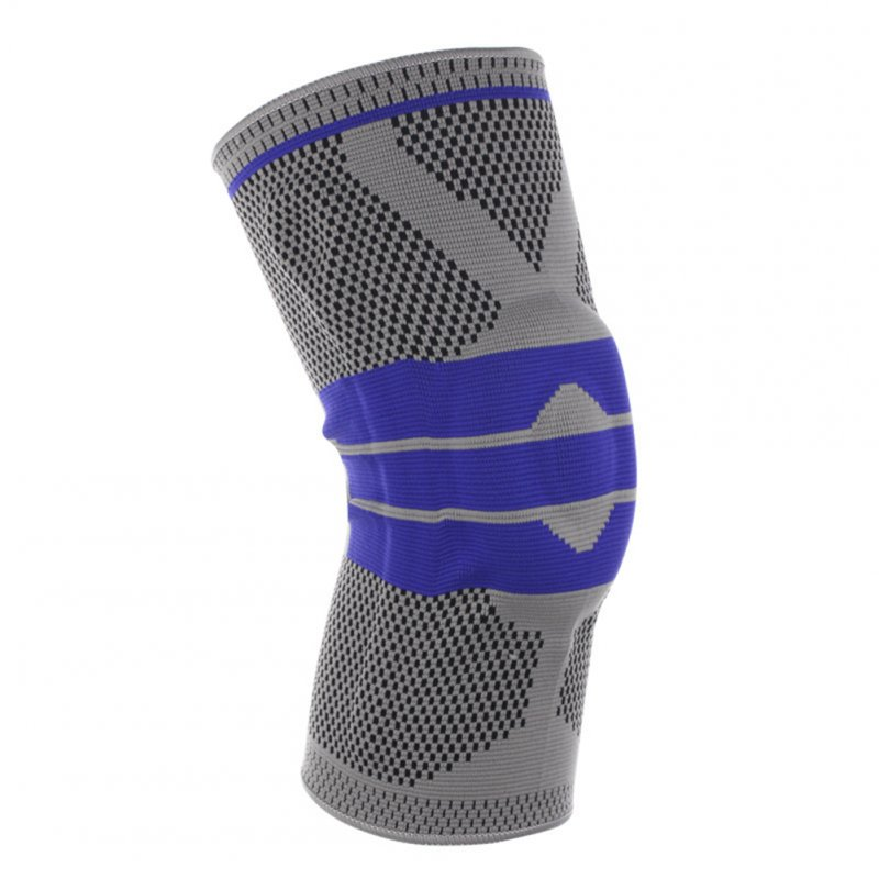 3D Weaving Protective Compression Knee Sleeve for Men & Women, Knee Brace Support for Basketball Football Sports Activities Smoke gray M