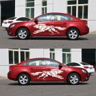 3D Wolf Totem Decals Car Stickers Full Body Car Styling Vinyl Decal Sticker for Cars Decoration white