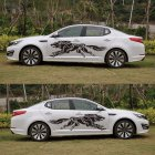 3D Wolf Totem Decals Car Stickers Full Body Car Styling Vinyl Decal Sticker for Cars Decoration black