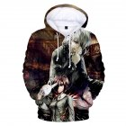 3D Women Men Fashion Tokyo Ghoul Digital Printing Hooded Sweater Hoodie Tops A XL
