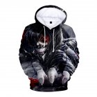3D Women Men Fashion Tokyo Ghoul Digital Printing Hooded Sweater Hoodie Tops B_M