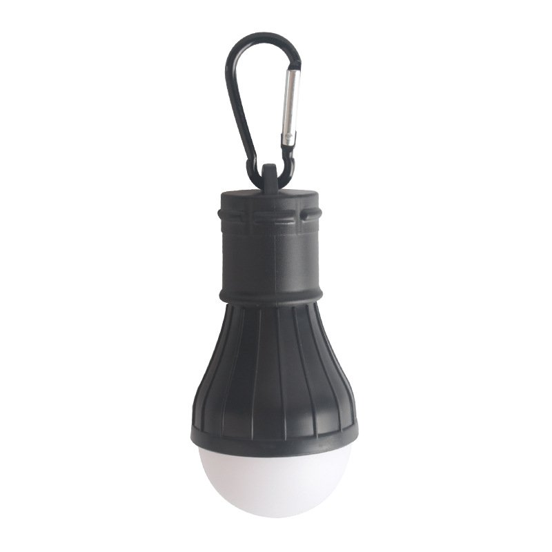 3LEDs Mini Outdoor Emergency Lamp Portable Lantern Tent Light Bulb for Camping black