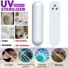 3LEDs Portable UVC Light Sterilizer Usb Rechargeable Handheld Disinfection Lamp Silver