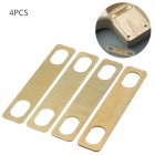 4pcs Guitar Neck Shims 0.2mm 0.5mm 1mm Thickness Brass Shims for Electric Guitar Bass Luthier Tools Gold