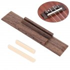 Rosewood Bridge Plastic Nut and Saddle for Ukulele Parts Replaceable Musical Instrument Repair Tool Wood color