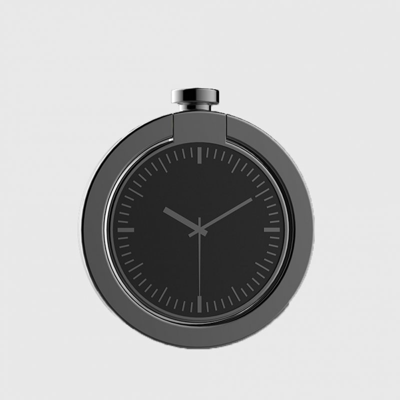 Pocket Watch Creative Phone Holder Rotate Ring Stand Car Bracket   gun color