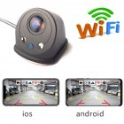 Smart WIFI Car Rear View Camera Reversing Camera Dash Cam HD Night Vision Vehicle Camera PZ436-R black
