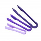 3PCS Anti-Slip Bread Tong Exquisite Food Clip Kitchen Baking Tool  purple