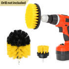 3Pcs/5Pcs  Drill Brush Bathroom Tile Grout Multi-purpose Power Scrubber Cleaning Kit(Yellow) 3-piece set (yellow)