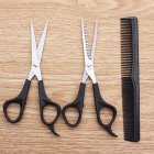 3Pcs Hair Scissors Cutting Shears Salon Professional Barber Hair Cutting Thinning Hairdressing Styling Tool  Three-piece set (OPP bag packaging)