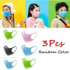 3Pcs PM2.5 Kid Respirator Anti-haze Mask Breathable Washable PU Sponge Dustproof Random Color Boys 3pcs