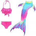 3Pcs/Set Girls Mermaid Tail Swimsuit