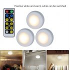 3Pcs/Set LED 2 Colors Remote Control Cabinet Lamp Decoration Light for Home Hotel