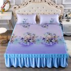 3Pcs/Set Summer Sleeping Mat+Pillowcase Set Washable Lace Bed Skirt Pillow Cover Slow time