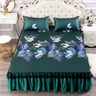 3Pcs/Set Summer Sleeping Mat+Pillowcase Set Washable Lace Bed Skirt Pillow Cover Jungle secret