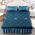 3Pcs/Set Summer Sleeping Mat+Pillowcase Set Washable Lace Bed Skirt Pillow Cover classic