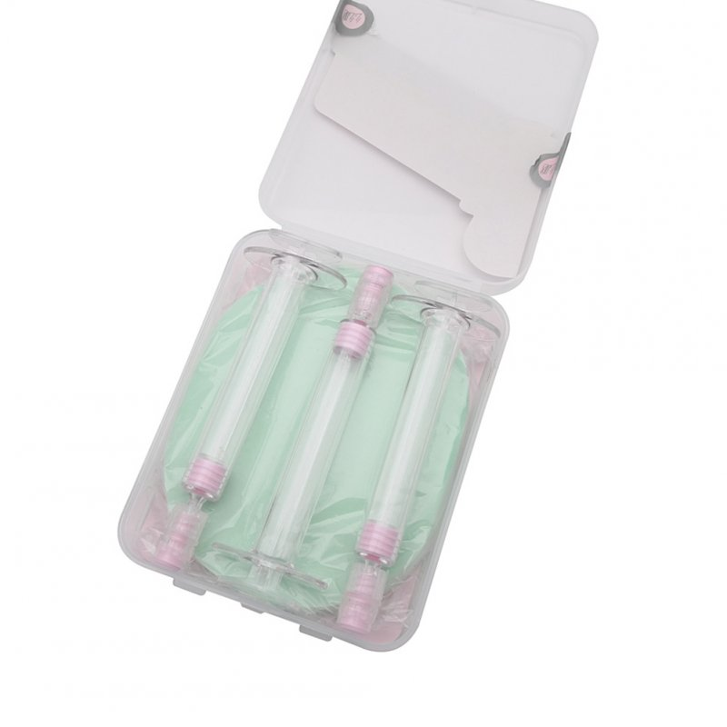 3Pcs/box Portable Mini Syringe Sub Bottle + Puff Lotion Foundation Perfume Travel Container Sub-bottle