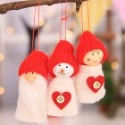3Pcs/set Merry Christmas Ornaments Gift Santa Claus Snowman Baby Toy Doll Pine Cone Tree Hanging Christmas Decorations