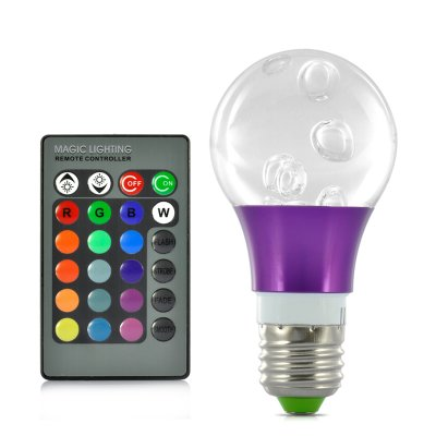 3W LED RGB Bulb Light